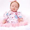 Χαμηλού Κόστους Κούκλες σαν αληθινές-FeelWind Κούκλες σαν αληθινές Κορίτσι κορίτσι Μωρά Κορίτσια 22 inch Σιλικόνη Βινύλιο - όμοιος με ζωντανό Χειροποίητο Χαριτωμένο Παιδικό / Εφηβικό Μη τοξικά Παιδικά Γιούνισεξ Παιχνίδια Δώρο
