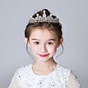 Χαμηλού Κόστους Κοστούμια, Αξεσουάρ & Κοσμήματα-Πριγκίπισσα Elsa Άννα μέτωπό Crown Halloween Πρωτοχρονιά Απομίμηση Μαργαριταριού Στρας Κράμα Για Χριστούγεννα Halloween Μασκάρεμα Κοριτσίστικα Διάφανο Κοστούμια Κοσμήματα / Καλύμματα Κεφαλής