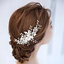 Χαμηλού Κόστους Αξεσουάρ κεφαλής για πάρτι-Κράμα Κομμάτια μαλλιών με Λουλούδι 1 τμχ Γάμου Headpiece