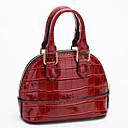 ราคาถูก กระเป๋า Totes-สำหรับผู้หญิง ซิป PU กรเป๋าหิ้ว สีดำ / ไวน์ / สีแดงชมพู