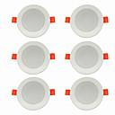 billiga LED-infällda lampor-6pcs 5 W 360 lm 10 LED-pärlor Enkel att installera Infälld LED-downlight Varmvit Kallvit 220-240 V Hem / kontor Vardagsrum / matrum / CE