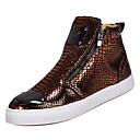 ราคาถูก รองเท้าผ้าใบผู้ชาย-สำหรับผู้ชาย รองเท้าสบาย ๆ PU ฤดูใบไม้ผลิ ไม่เป็นทางการ รองเท้าผ้าใบ ไม่ลื่นไถล สีทอง / สีดำ / เงิน
