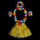 baratos Costumes étnicas e Cultural-Havaiana Dançarina de hula Crianças Para Meninos Para Meninas Activo Trajes havaianos Para PVC Floral Natal Dia Das Bruxas Carnaval Saias Decoração de Cabelo Neckwear