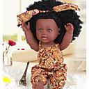 Χαμηλού Κόστους Κούκλες-KIDDING Κούκλες σαν αληθινές Κορίτσι κορίτσι Μωρά Κορίτσια Αφρικανική κούκλα 12 inch Σιλικόνη πλήρους σώματος Σιλικόνη Βινύλιο - όμοιος με ζωντανό Χειροποίητο Χαριτωμένο Παιδικό / Εφηβικό Παιδικά