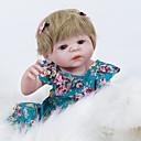 povoljno USB-FeelWind Autentične bebe Djevojka lutka Za ženske bebe 22 inch Cijeli silikon tijela Silikon Vinil - vjeran Ručno Izrađen Slatko Sigurno za djecu Djeca / Teen Non Toxic Dječjom Uniseks Igračke za