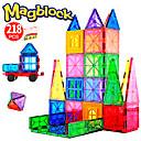 Χαμηλού Κόστους Μαγνητικά τουβλάκια-Attop Μαγνητικό μπλοκ Μαγνητικά πλακίδια 218 pcs Δημιουργικό γεωμετρική Pattern Διαβάθμιση χρώματος Όλα Αγορίστικα Κοριτσίστικα Παιχνίδια Δώρο