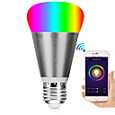 billige Smartlamper-e27 7w led smart wifi pærer 22 ledede perler smd 5730 arbeider med Amazon Alexa / App Control / google hjemme rgbw 85-265v