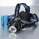 Χαμηλού Κόστους Φακοί-Φακοί Κεφαλιού Μπροστινό φως ποδηλάτου Αδιάβροχη Επαναφορτιζόμενο 1200 lm LED LED 1 Εκτοξευτές 3 τρόπος φωτισμού με μπαταρίες Αδιάβροχη Zoomable Επαναφορτιζόμενο Ρυθμιζόμενο