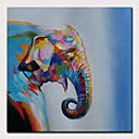 povoljno Apstraktno slikarstvo-Hang oslikana uljanim bojama Ručno oslikana - Sažetak Pop art Moderna Bez unutrašnje Frame
