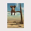Χαμηλού Κόστους Αφηρημένοι Πίνακες-Εμπριμέ Αντίγραφο σε Τεντωμένο Καμβά - Ζώα Φωτογραφικό Μοντέρνα Εκτυπώσεις τέχνης