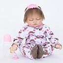 povoljno 3D printeri-FeelWind Autentične bebe Djevojka lutka Za ženske bebe 22 inch Silikon Vinil - vjeran Ručno Izrađen Slatko Sigurno za djecu Djeca / Teen Non Toxic Dječjom Uniseks Igračke za kućne ljubimce Poklon