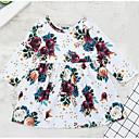 Χαμηλού Κόστους Βρεφικά φορέματα-Μωρό Κοριτσίστικα Κομψό στυλ street Καθημερινά Φλοράλ Μακρυμάνικο Φόρεμα Λευκό / Νήπιο