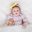 Χαμηλού Κόστους Παιχνίδια που Διώχνουν το Στρες-FeelWind Κούκλες σαν αληθινές Κορίτσι κορίτσι Μωρά Κορίτσια 22 inch Σιλικόνη Βινύλιο - όμοιος με ζωντανό Χειροποίητο Χαριτωμένο Παιδικό / Εφηβικό Μη τοξικά Παιδικά Γιούνισεξ Παιχνίδια Δώρο