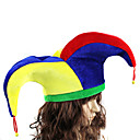 ราคาถูก กล่องดนตรี-Burlesque / Clown หมวก ผู้ใหญ่ สำหรับผู้ชาย สนุกสนานและ Reluctant วันฮาโลวีน วันฮาโลวีน เทศกาลคานาวาล เสื้อผ้าที่สวมไปงานเต้นรำสวมหน้ากาก Festival / Holiday Plush โลหะผสม ทับทิม / สีเหลือง / ฟ้า