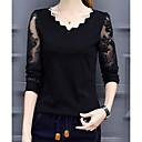 Χαμηλού Κόστους Φώτα Σκηνής-Γυναικεία T-shirt Βασικό Μονόχρωμο Μαύρο