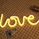 povoljno Dekor i noćno svjetlo-1pc LOVE LED noćno svjetlo Toplo bijelo AA baterije su pogonjene Kreativan <5 V