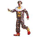Χαμηλού Κόστους Κοστούμια για Ενήλικες-Burlesque / Κλόουν Τσίρκο Κοστούμι πάρτι Ενηλίκων Ανδρικά Αστείο & Απρόθυμο Halloween Χριστούγεννα Halloween Απόκριες Γιορτές / Διακοπές Ύφασμα Κίτρινο Αποκριάτικα Κοστούμια Καρό