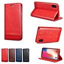 ราคาถูก การโกนและกำจัดขน-Case สำหรับ Apple iPhone XS / iPhone XR / iPhone XS Max Wallet / Card Holder / Shockproof ตัวกระเป๋าเต็ม สีพื้น Hard หนัง PU
