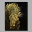 billige Abstrakte malerier-Hang malte oljemaleri Håndmalte - Landskap Moderne Inkluder indre ramme