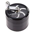 billige Hårpleie og styling-4 lag aluminiumslegering kromknusemølle røykdetektorer semiautomatisk stor tobaks krydderurtskjell