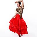 ราคาถูก ชุดเต้นรำลาติน-ชุดเต้นละติน ด้านล่าง / ฟลาเมงโก้ สำหรับผู้หญิง Performance สแปนเด็กซ์ กระโปรงระบาย ปรับตัวลดลง กระโปรง