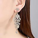 ราคาถูก ตุ้มหู-สำหรับผู้หญิง ล้าง Cubic Zirconia ต่างหู คลาสสิค Stylish ต่างหู เครื่องประดับ สีทอง / สีเงิน สำหรับ งานแต่งงาน ปาร์ตี้ 1 คู่