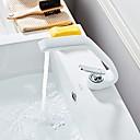 povoljno Slavine za umivaonik-Kupaonica Sudoper pipa - Slavine s tri otvora Slikano završi Središnje pozicionirane Jedan Ručka jedna rupaBath Taps