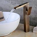 Χαμηλού Κόστους Βρύσες Νιπτήρα Μπάνιου-Μπάνιο βρύση νεροχύτη - Εκτεταμένο / Νεό Σχέδιο Πεπαλαιωμένος Ορείχαλκος Ελεύθερη όρθια θέση Ενιαία Χειριστείτε μια τρύπαBath Taps