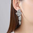 povoljno Naušnice-Žene Vedro Kubični Zirconia Naušnica Izrezati Stilski Naušnice Jewelry Zlato / Pink Za Vjenčanje Party 1 par