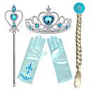 Χαμηλού Κόστους Κοστούμια με Θέμα Ταινίες & Τηλεόραση-Πριγκίπισσα Elsa Άννα Τιάρες μέτωπό Crown Μαγικό Ραβδί Halloween Πρωτοχρονιά Ρητίνη PP Για Χριστούγεννα Halloween Μασκάρεμα Κοριτσίστικα Ρητίνη Κοστούμια Κοσμήματα Κοσμήματα μόδας / Γάντια / Γάντια