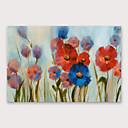 Χαμηλού Κόστους Πίνακες με Λουλούδια/Φυτά-Hang-ζωγραφισμένα ελαιογραφία Ζωγραφισμένα στο χέρι - Άνθινο / Βοτανικό Μοντέρνα Περιλαμβάνει εσωτερικό πλαίσιο