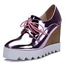 baratos Sapatos de Salto-Mulheres Couro Envernizado / Microfibra Primavera Saltos Salto Plataforma Dedo Apontado Prateado / Azul / Rosa claro