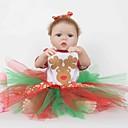 povoljno HDMI-FeelWind Autentične bebe Djevojka lutka Za ženske bebe 22 inch Cijeli silikon tijela Silikon Vinil - vjeran Ručno Izrađen Slatko Sigurno za djecu Djeca / Teen Non Toxic Dječjom Uniseks Igračke za