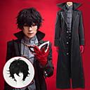 povoljno Anime kostimi-Inspirirana Persona 5 Cosplay Anime Cosplay nošnje Japanski Cosplay Suits Jednobojni / Uglađeni Kaput / Top / Hlače Za Muškarci / Žene