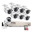 ราคาถูก ไฟแสงจ้าLED-Zosi® 1080 จุด 8ch เครือข่าย poe ระบบเฝ้าระวังวิดีโอ 8 ชิ้น 2mp กลางแจ้งในร่มกล้อง ip กล้องวงจรปิดรักษาความปลอดภัย nvr ชุด 2 ไตรโลไบต์ HDD