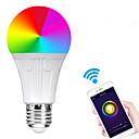 billige Smartlamper-e27 7w led smart wifi pærer perler smd 5730 jobber med Amazon Alexa / App Control / google hjemme rgbw 85-265v