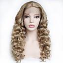Χαμηλού Κόστους Συνθετικές περούκες με δαντέλα-Συνθετικές μπροστινές περούκες δαντέλας Σγουρά Μέσο μέρος Δαντέλα Μπροστά Περούκα Ξανθό Μακρύ Ξανθό Φράουλας Συνθετικά μαλλιά 22-26 inch Γυναικεία Μαλακό Ανθεκτικό στη Ζέστη Γυναικεία Ξανθό