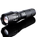 billiga Ficklampor-LED-Ficklampor Vattentät Uppladdningsbar 3000 lm LED LED utsläpps 5 Belysning läge med batteri och laddare Vattentät Zoombar Uppladdningsbar Justerbar fokus Superlätt Hög Kraft Camping / Vandring
