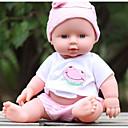 povoljno Lutkice-KIDDING Autentične bebe Djevojka lutka Za muške bebe Za ženske bebe 24 inch Cijeli silikon tijela Silikon Vinil - vjeran Ručno Izrađen Djeca / Teen Divan Dječjom Igračke za kućne ljubimce Poklon