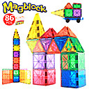 Χαμηλού Κόστους Μαγνητικά τουβλάκια-Μαγνητικό μπλοκ Μαγνητικά πλακίδια 86 pcs Δημιουργικό γεωμετρική Pattern Διαβάθμιση χρώματος Όλα Αγορίστικα Κοριτσίστικα Παιχνίδια Δώρο