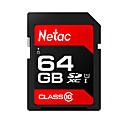ราคาถูก SDการ์ด-Netac 64GB การ์ดหน่วยความจำ UHS-I U1 / Class10 p600