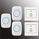 billige Bi-pin lamper med LED-Factory OEM Trådløs To til tre dørklokke Musikk / Ding dong Ikke-visuelle ringeklokke