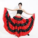ราคาถูก ชุดเต้นรำลาติน-ชุดเต้นละติน ด้านล่าง / ฟลาเมงโก้ สำหรับผู้หญิง Performance สแปนเด็กซ์ กระโปรงระบาย / ข้อต่อ ปรับตัวลดลง กระโปรง