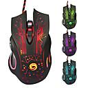baratos Capas para Volante-Littest s7 wired usb gaming mouse levou luz 4 níveis de dpi ajustável chaves 6 teclas programáveis