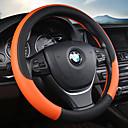 Χαμηλού Κόστους Καλύμματα για το τιμόνι αυτοκινήτου-Καλύμματα για το τιμόνι αυτοκινήτου Δερμάτινο 38 εκ Βυσσινί / Κόκκινο / Μπλε Για Universal Όλα τα μοντέλα Όλες οι χρονιές