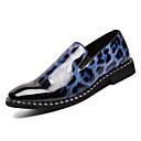זול נעלי בד ומוקסינים לגברים-בגדי ריקוד גברים נעלי נוחות עור פטנט אביב יום יומי נעליים ללא שרוכים נושם נמר לבן / אדום / כחול