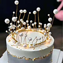 billige Kakedekorasjoner-Kakepynt Klassisk Tema / Ferie / Bryllup Kunstnerisk / Retro / Unikt design Legering Bryllup / Bursdag med Perledetaljer 1 pcs OPP