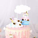 povoljno Plüssállatok-Figure za torte Klasični Tema / Odmor / Unicorn Umjetnička / Retro / Jedinstven dizajn Čisti papir Rođendan / Kamado roštilj s Isprepleteni dijelovi 1 pcs OPP