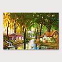 זול אומנות ממוסגרת-ציור שמן צבוע-Hang מצויר ביד - מופשט מודרני כלול מסגרת פנימית