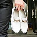 Χαμηλού Κόστους Ανδρικά Φορετά & Μοκασίνια-Ανδρικά Δερμάτινα παπούτσια Δέρμα Άνοιξη Καθημερινό / Βρετανικό Μοκασίνια & Ευκολόφορετα Περπάτημα Καφέ / Πράσινο / Βαθυγάλαζο